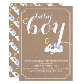 Cartão Texto do vintage do chá do bebé do sono