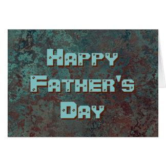 """Cartão Texto feliz do dia dos pais do impressão """"de"""