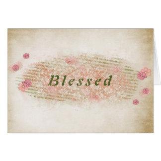 Cartão textura abençoar-floral da amizade