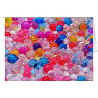 Cartão textura colorida das bolas da geléia