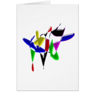 Cartão Textura da arte moderna