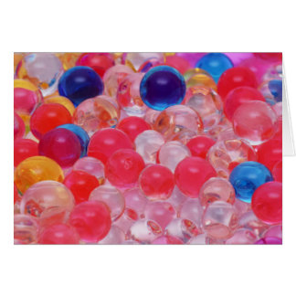 Cartão textura das bolas da água
