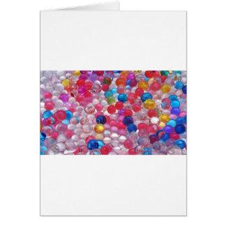 Cartão textura das bolas da geléia do colore