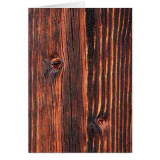 Cartão Textura de madeira escura do conselho