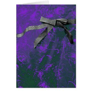 Cartão Textura feminino colorida da fita & do arco