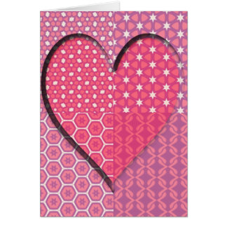 Cartão Texturas de um coração
