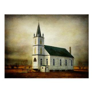 Cartão Textured da igreja do país