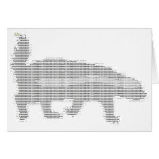 Cartão texugo de mel ASCII