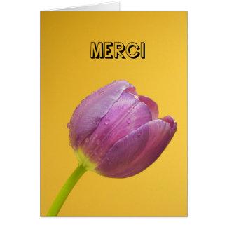 Cartão _Thank de Merci você em francês