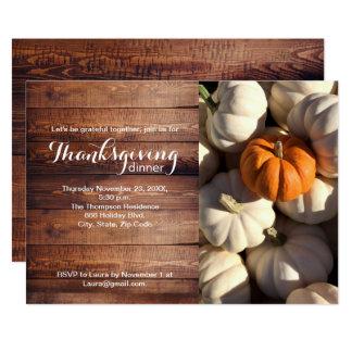 Cartão Thankgiving, abóbora, queda