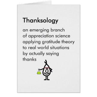 Cartão Thanksology - um obrigado engraçado você poema
