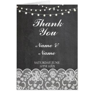 Cartão ThankYou noivado nupcial do casamento do giz do