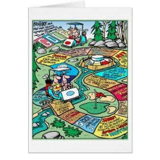 Cartão The Game do golfe