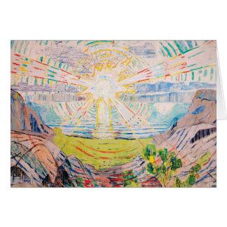 Cartão The Sun por Edvard Munch