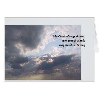 Cartão The Sun que brilha sempre