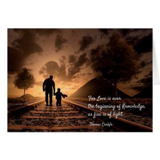 Cartão Thomas Carlyle. Citações sobre o amor e o