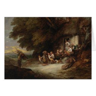 Cartão Thomas Gainsborough - a porta da casa de campo