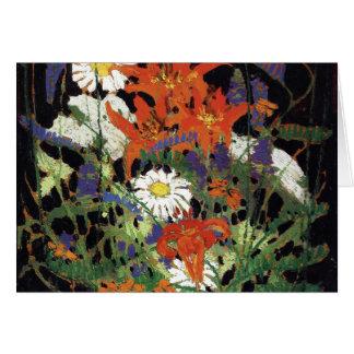 Cartão Thomson - Marguerites, lírios de madeira e