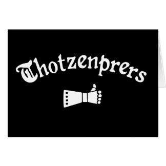 Cartão Thotzenprers
