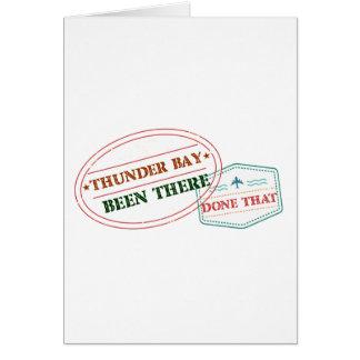 Cartão Thunder Bay feito lá isso