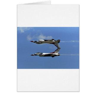 Cartão Thunderbirds do U.S.A.F.