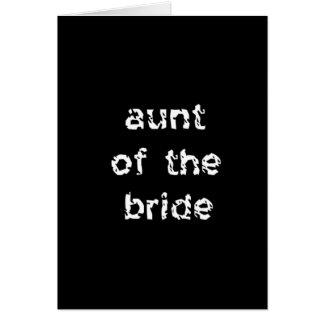 Cartão Tia da noiva