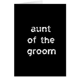 Cartão Tia do noivo
