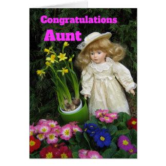 Cartão Tia dos parabéns