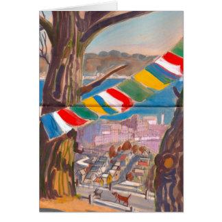 Cartão tibetano da bandeira da oração