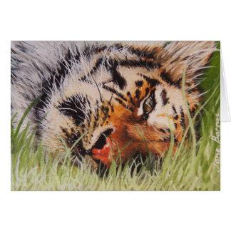 Cartão Tigre de descanso