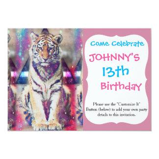 Cartão Tigre do hipster - arte do tigre - tigre do