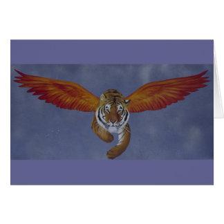Cartão Tigre do tigre que queima-se brilhante