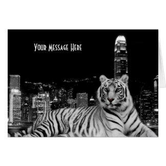 Cartão Tigre preto e branco