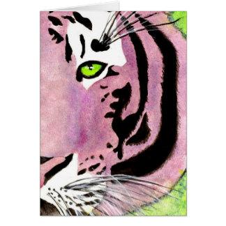 Cartão Tigre violeta Notecards