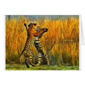Cartão Tigres da dança