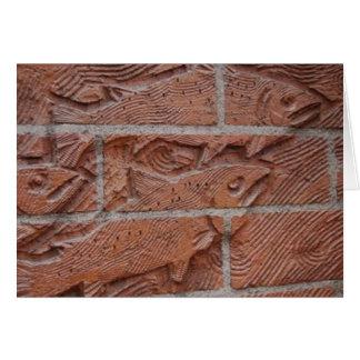 Cartão tijolo salmon
