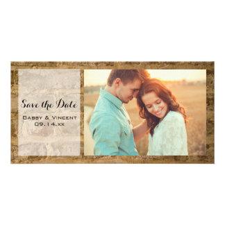 Cartão Tijolos chiques industriais que Wedding economias