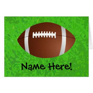 Cartão Time do colégio do júnior do campo de futebol