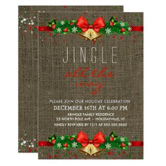 Cartão Tinir da festa natalícia toda a serapilheira