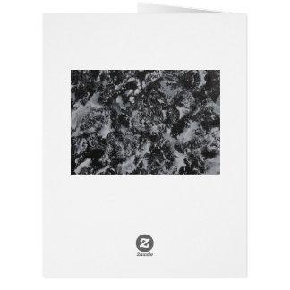Cartão Tinta branca em #4 preto