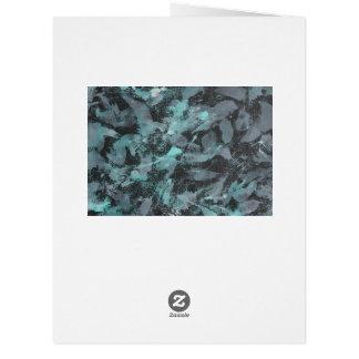 Cartão Tinta verde e branca no fundo preto