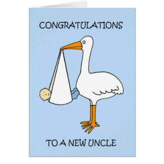 Cartão Tio novo ao menino de bebê