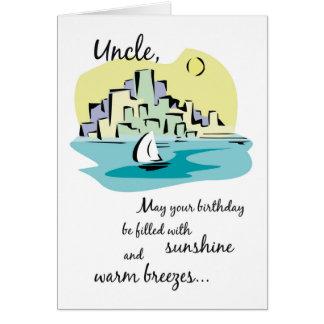 Cartão Tio Veleiro Cidade Aniversário
