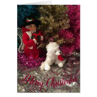Cartão Tio Visco & filhote de cachorro