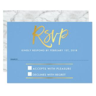 Cartão Tipo azul do ouro do falso da RESPOSTA da RESPOSTA