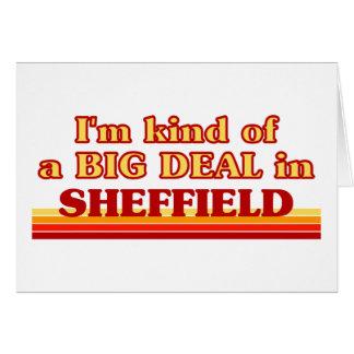Cartão Tipo de I´m de uma grande coisa em Sheffield