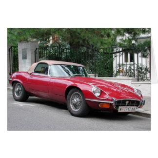 Cartão Tipo de Jaguar E