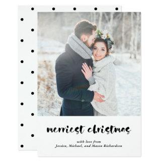 Cartão Tipo moderno o Natal o mais alegre de | com foto