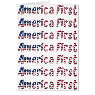 Cartão Tipografia da bandeira americana de América