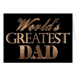 Cartão Tipografia elegante do ouro do texto do grande pai